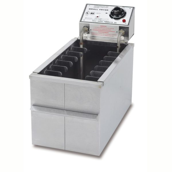 8048D small fryer with drain